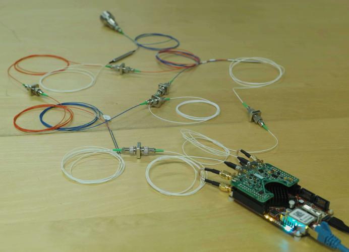 Coherent doppler lidar velocimeter built with Koheron Laser Board for the Red Pitaya