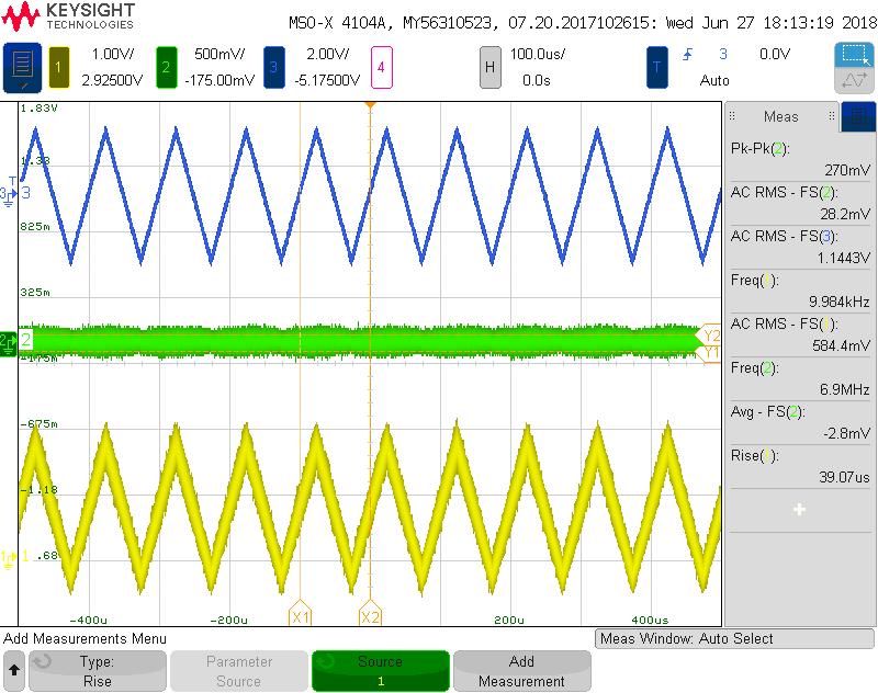 Laser frequency ramp 10 kHz