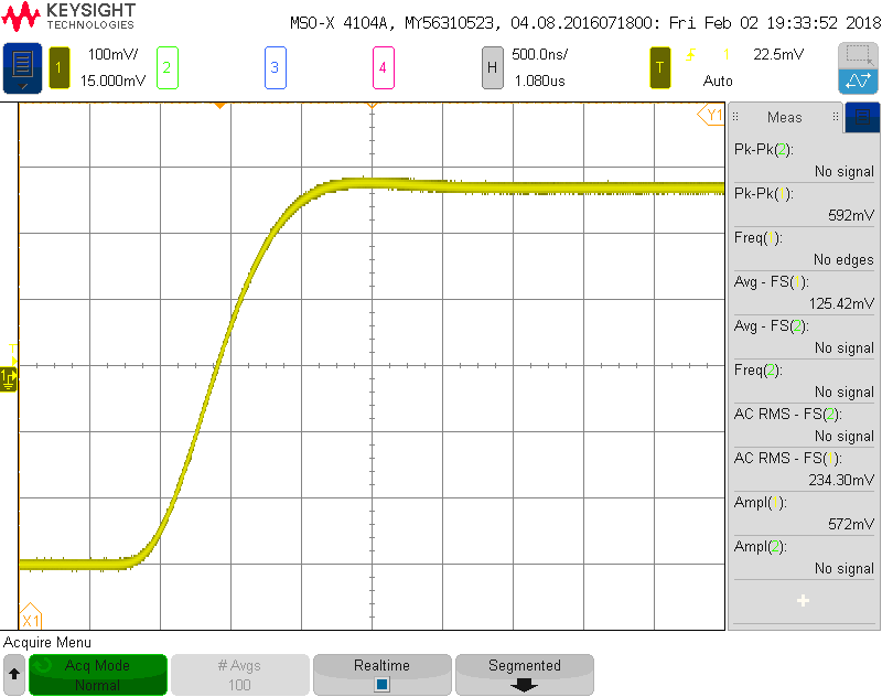 Photodetector step response