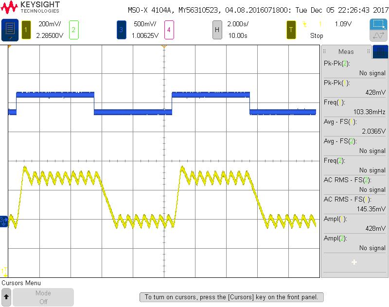 TEC100L GAIN1 oscillates