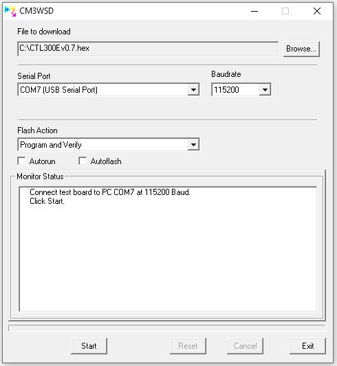 Update CTL300E firmware Step 1